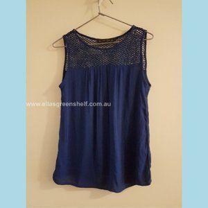 Zara Basic size S Navy Blue Top